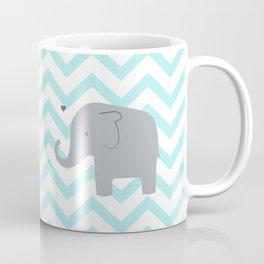 Chevron Elephant Mint Coffee Mug