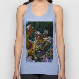 Golden Dragons Nest Unisex Tank Top
