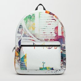 Montreal colorful skyline Backpack