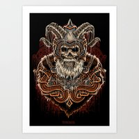 viking Art Prints featuring VIKING by Demones