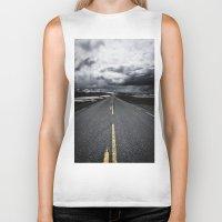 road Biker Tanks featuring Road by Nick Verschoor