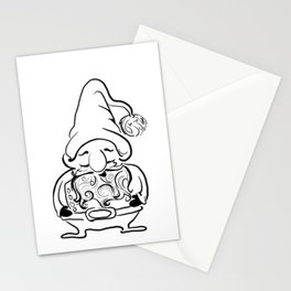 BW Gnome Stationery Cards