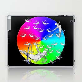 Synchronised Rainbow Hoop Divers Laptop & iPad Skin