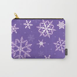 snowflakes on the blue Carry-All Pouch