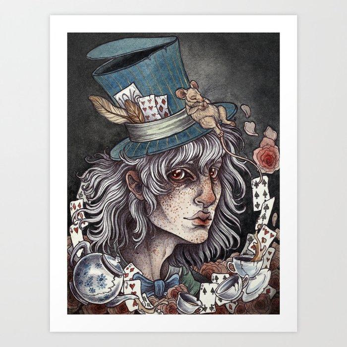 the Mad Hatter print Art Print