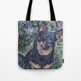 Lancashire Heeler dog art portrait from an original painting by L.A.Shepard Tote Bag