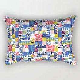 Geometric Playground Rectangular Pillow