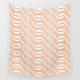 Sticks On Pink Ice #society6 #hockey #sport Wall Tapestry