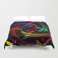 happy birthday Duvet Covers featuring Happy Birthday by David Lee