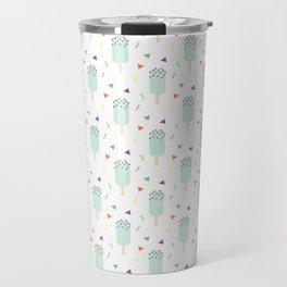 Summer sweet pastel teal ice cream geometrical pattern Travel Mug