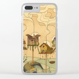 Sea Houses Clear iPhone Case
