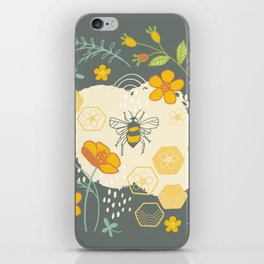 Little Bee and Buttercups iPhone Skin