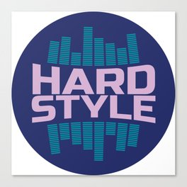 Hardstyle Equalizer | Electro Techno Party Canvas Print