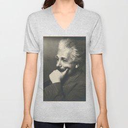 Albert Einstein rare photo Unisex V-Neck