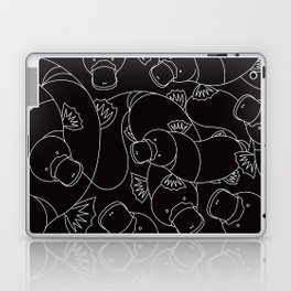 Minimalist Platypus Black and White Laptop & iPad Skin