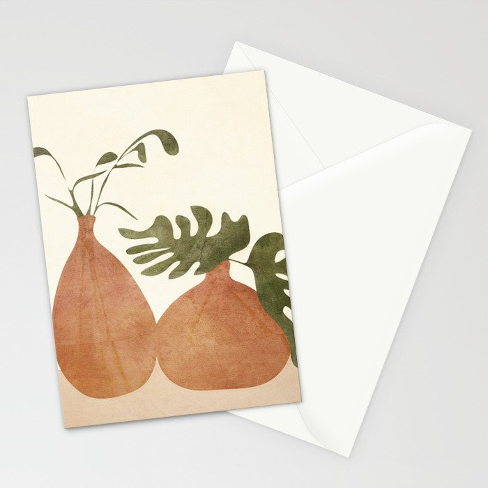 Two Living Vases Stationery Cards