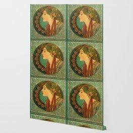 "Alphonse Mucha ""Laurel"" Wallpaper"