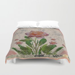 SHABBY CHIC CORAL ANTIQUE PINK ROSES Duvet Cover