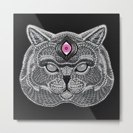 The All Seeing Cat Metal Print