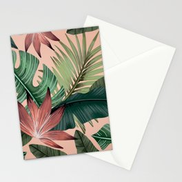 Tropical Monstera Swiss Cheese Plant Stationery Cards