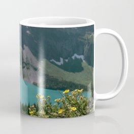 Grinnel Glacier and Wildflowers Coffee Mug