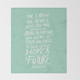 Jeremiah 29: 11 x Mint Throw Blanket