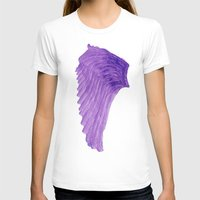 angel wings T-shirts featuring Purple Angel Wings by The Bohemian Bubble