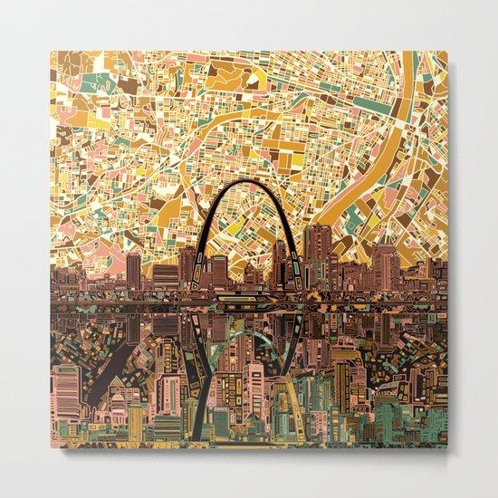 st louis city skyline Metal Print
