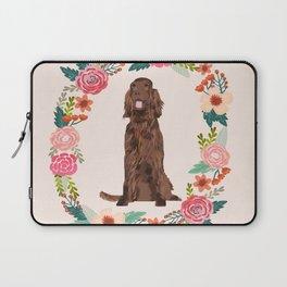 irish setter floral wreath spring dog breed pet portrait gifts Laptop Sleeve