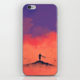 Cloudy Mountain iPhone Skin