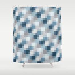Water Pixels Shower Curtain