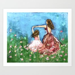 Mother and Daughter-Twirling My Girl Art Print
