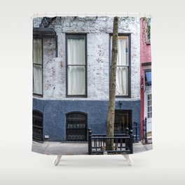 Old Greenwich Village apartment Shower Curtain