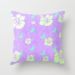 Tropical Pattern Purple Throw Pillow