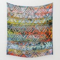 aztec Wall Tapestries featuring Aztec by Liz Moran