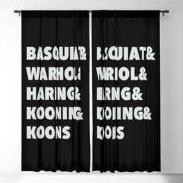 80's modern and pop art list Blackout Curtain