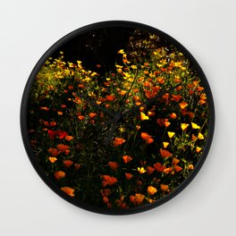 Beautiful garden flowers Wall Clock