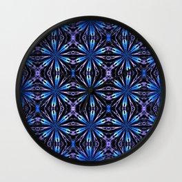 Floral motive Iris sky Wall Clock