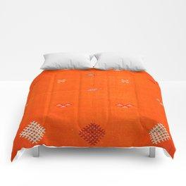 -A10- Traditional Anthropologie Moroccan orange Artwork. Comforters