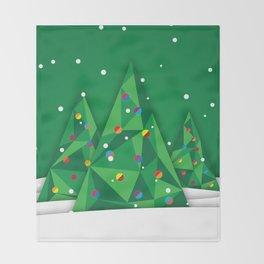 Vector Christmas Tree Throw Blanket