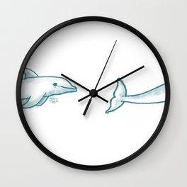 Dolphine Love Wall Clock