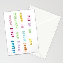 Fruit Salad Poem Stationery Cards