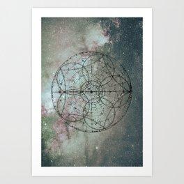 Zodiac Map Art Print