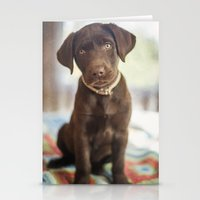labrador Stationery Cards featuring Labrador Love by rusticedenphotography