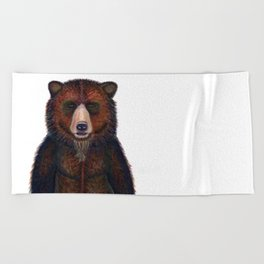 Blissed Out Bear Beach Towel