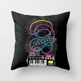 Music Coaster Throw Pillow