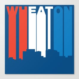 Red White And Blue Wheaton Maryland Skyline Canvas Print