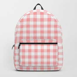 Gingham Check - soft pink Backpack