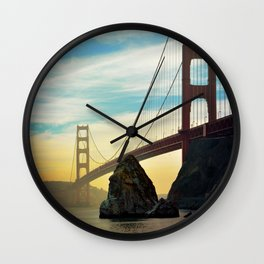 Sunset on the Bay Wall Clock