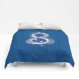 Number eight with blue floral Comforters
